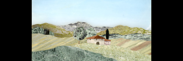 Mosaic : Veduta campagna 16×24